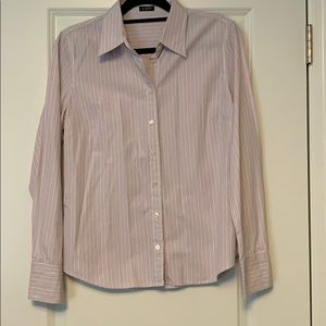 Striped classic button-up shirt